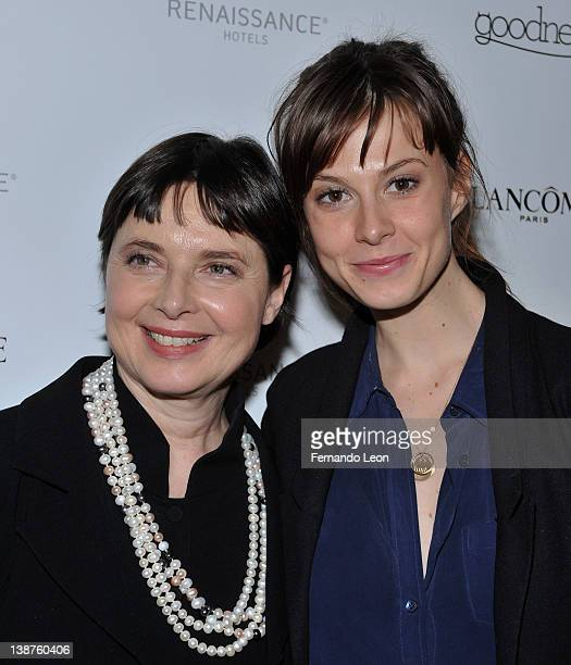 Isabella Rossellini and Elettra Wiedemann attend the Goodness Popup Restaurant Opening at the Museum Of Arts And Design on February 11 2012 in New...