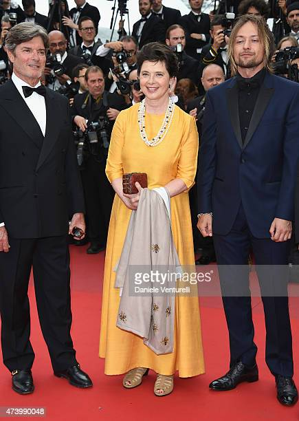 Isabella Rossellini and guests attend the Sicario Premiere during the 68th annual Cannes Film Festival on May 19 2015 in Cannes France