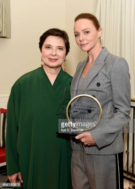 Isabella Rossellini and Humanitarian Award Honoree Stella McCartney attend the David Lynch Foundation Women Of Vision Luncheon on May 8 2018 in New...