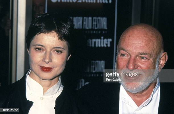 Isabella Rossellini and John Schlesinger during The 36th Annual New York Film Festival 'Celebrity' Opening Night at Avery Fisher Hall/Lincoln Center...
