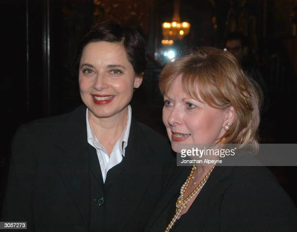 """Isabella Rossellini and Pamela Wallin attend the """"Saddest Music In The World"""" afterparty held at the National Arts Club at Gramercy Park March 4,..."""