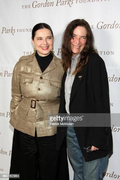 Isabella Rossellini and Patti Smith attend Celebrating Fashion Gala Awards Dinner to Support The GORDON PARKS Foundation at Gotham Hall on June 2...