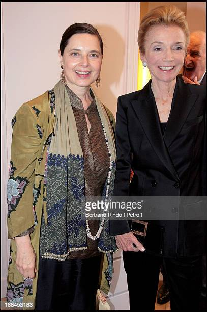 Isabella Rossellini and Princess Lee Radziwill at Ines De La Fressange Awarded Knight in the National Order of the Legion of Honor