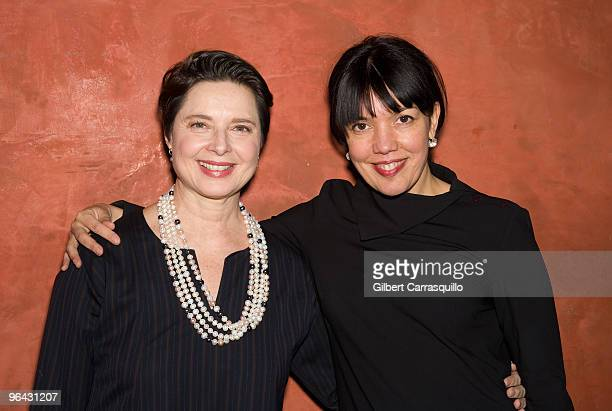 Isabella Rossellini and Sara Barnett general manager of Sundance Channel attend the Sundance Channel screening of Big Night at Tangerine on February...