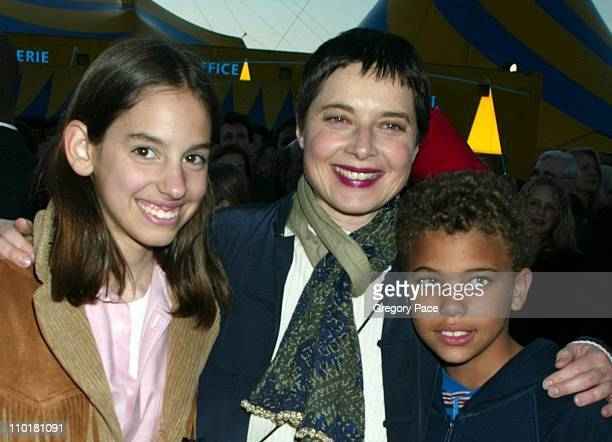 """Isabella Rossellini and son Roberto during Cirque du Soleil's Latest Production """"Varekai"""" Grand Opening at Randall's Island Park in New York City,..."""