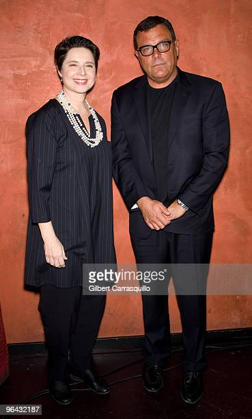 Isabella Rossellini and Stephen Starr owner of Starr Restaurants attend the Sundance Channel screening of Big Night at Tangerine on February 4 2010...