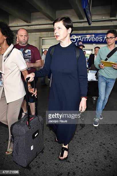 Isabella Rossellini arrives at Nice Airport during the 68th annual Cannes Film Festival on May 13 2015 in Cannes France