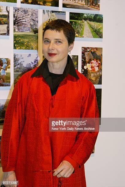 Isabella Rossellini arrives for Audrey Hepburn The Beauty of Compassion an exhibition and auction of items belonging to the actress at Sotheby's The...