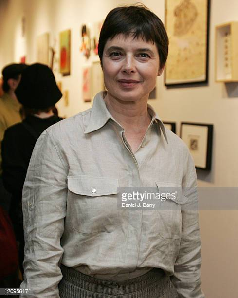 Isabella Rossellini at the Spring Gala Art Exhibition and Benefit Sale held at Spike Gallery Monday June 6 2005 in New York Isabella Rossellini was...