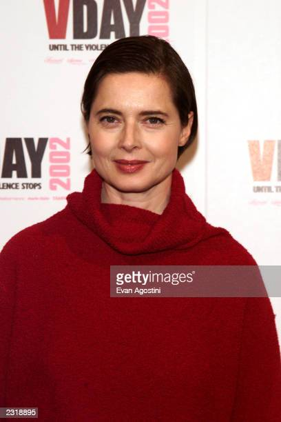 Isabella Rossellini at the V-DAY 2002 an evening of performances, dinner and awards at the Hammerstein Ballroom in New York City. Feb. 16, 2002....