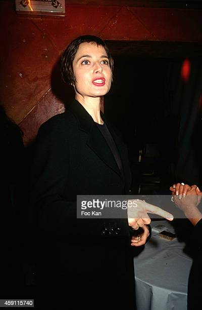 Isabella Rossellini attends a fashion week Party at Les Bains Douches in the 1990s in Paris France