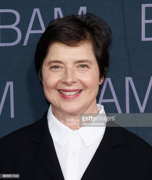 Isabella Rossellini attends BAM Gala 2018 at Brooklyn Cruise Terminal on May 30 2018 in New York City