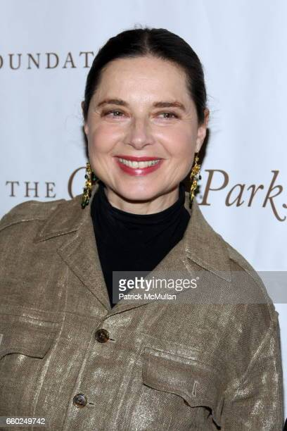 Isabella Rossellini attends Celebrating Fashion Gala Awards Dinner to Support The GORDON PARKS Foundation at Gotham Hall on June 2 2009 in New York...