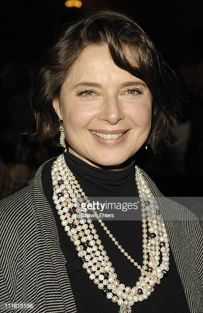 Isabella Rossellini attends Future Fashion Runway Show on January 31 2008 at Gotham Hall in New York City