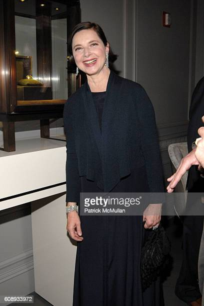 Isabella Rossellini attends LEVIEV Diamond Jewelry Collection Unveiling Event at Madison Avenue on November 13 2007 in New York City
