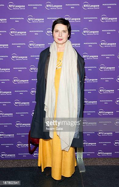 Isabella Rossellini attends the 2013 NYU Langone Medical Center Musculoskeletal Ball at American Museum of Natural History on November 12 2013 in New...