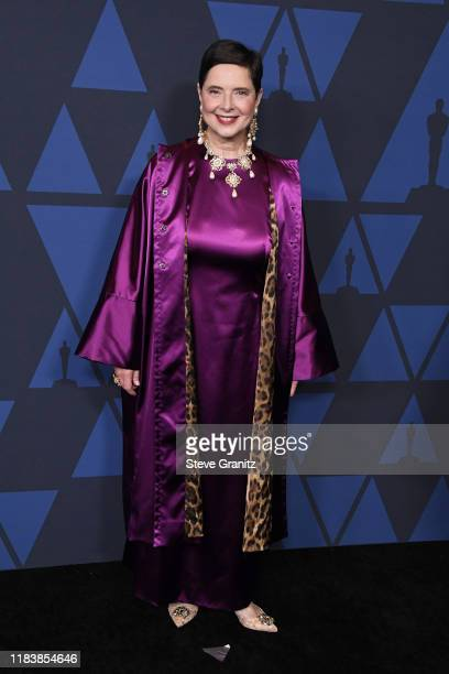 Isabella Rossellini attends the Academy Of Motion Picture Arts And Sciences' 11th Annual Governors Awards at The Ray Dolby Ballroom at Hollywood...