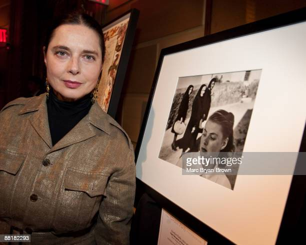 Isabella Rossellini attends the Gordon Parks Foundation's Celebrating Spring fashion awards gala at Gotham Hall on June 2 2009 in New York City