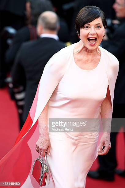 Isabella Rossellini attends the opening ceremony and premiere of La Tete Haute during the 68th annual Cannes Film Festival on May 13 2015 in Cannes...