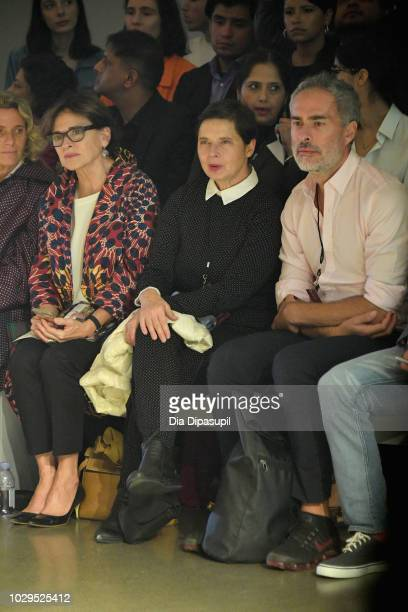 Isabella Rossellini attends the PRISCAVera Front Row during New York Fashion Week The Shows at Gallery II at Spring Studios on September 8 2018 in...