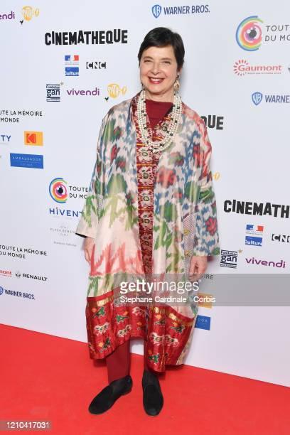 """Isabella Rossellini attends The """"Toute La Memoire Du Monde"""" festival at la Cinematheque on March 04, 2020 in Paris, France."""