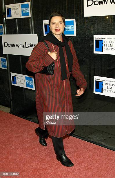 Isabella Rossellini during 2003 Tribeca Film Festival Down With Love World Premiere at Tribeca Performing Arts Center 199 Chambers Street in New York...