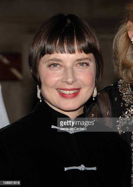 Isabella Rossellini during 2006 New Yorkers For Children Fall Gala at Cipriani in New York City New York United States