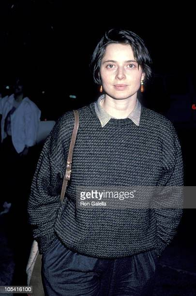 Isabella Rossellini during Isabella Rosselini Sighting at Spago's January 18 1986 at Spago's in Los Angeles California United States