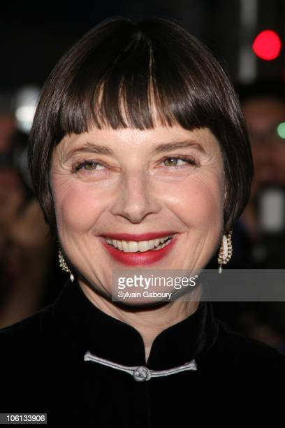Isabella Rossellini during 'New Yorkers For Children' Annual Fall Gala Dinner arrivals at Ciprianis 42nd Street in New York New York United States