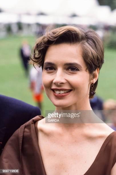 Isabella Rossellini lors du Trophée Lancôme à SaintNomlaBretèche en septembre 1988 France