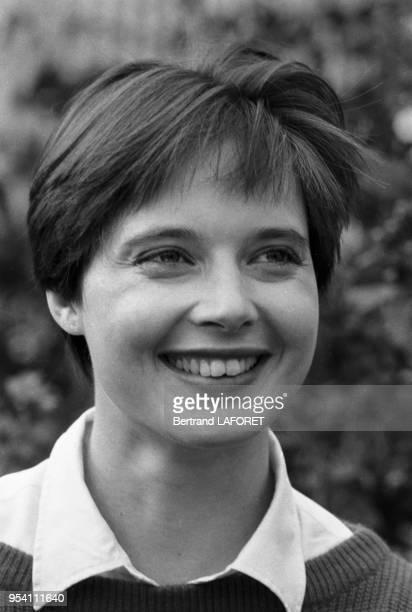 Isabella Rossellini lors du Trophée Lancôme à SaintNomlaBretèche le 2 octobre 1983 France