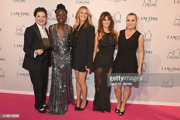 Isabella Rossellini Lupita Nyong'o Julia Roberts Penelope Cruz and Kate Winslet attend the photocall for the Lancome Celebrates 80 Years of Beauty...