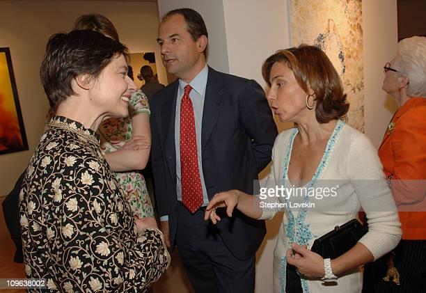 Isabella Rossellini, Massimo Ferragamo and Chiara Ferragamo
