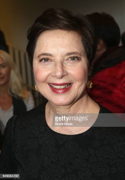 Isabella Rossellini poses at the opening night after party for Lincoln Center Theater's production of My Fair Lady on Broadway at David Geffen Hall...