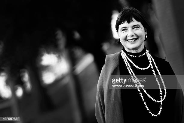 Isabella Rossellini poses on October 16 2015 in Rome Italy