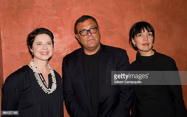 Isabella Rossellini Stephen Starr owner of Starr Restaurants and Sara Barnett general manager of Sundance Channel attend the Sundance Channel...