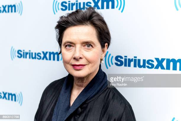 Isabella Rossellini visits SiriusXM at SiriusXM Studios on December 11 2017 in New York City