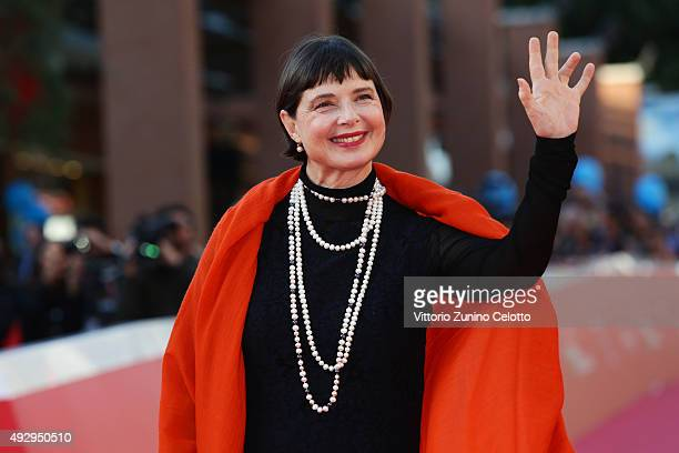 Isabella Rossellini walks the red carpet during the 10th Rome Film Fest at Auditorium Parco Della Musica on October 16 2015 in Rome Italy
