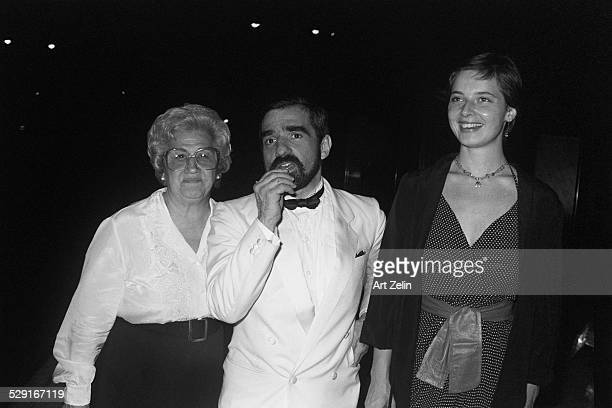 Isabella Rossellini with Martin Scorsese and his mother Catherine; circa 1980; New York.