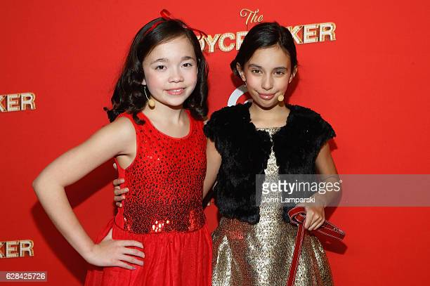 Isabella Russo and Kylie Cantrall attend Target's Toycracker Premiere event at Spring Studios on December 7 2016 in New York City