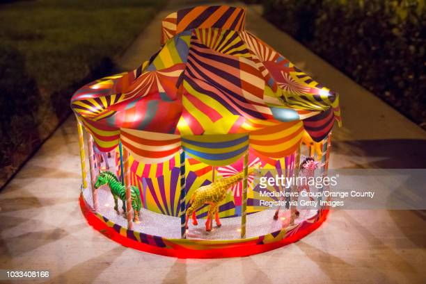 Isabella Sansevero's 2015 costume is a Katie Perry inspired dress with a carousel skirt that is lit with LED lights and plays music INFORMATION...