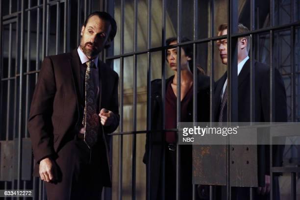 "Isabella Stone: #34"" Episode 413 -- Pictured: Henri Lubatti as Gautier, Mozhan Marno as Samar Navabi, Diego Klattenhoff as Donald Ressler --"