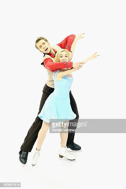 Isabella Tobias and Deividas Stagniunas of Lithuania compete in the Ice Dance Short Dance during the 2013 ISU World Figure Skating Championships at...