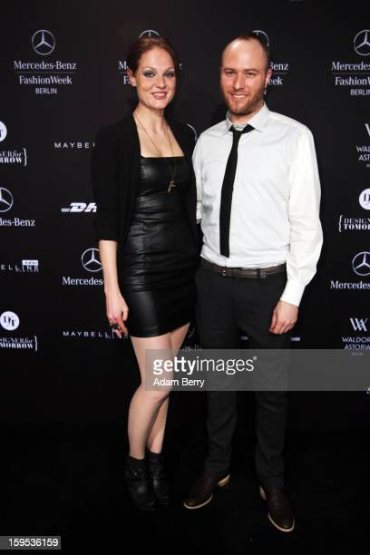 Isabella Vinet and Marc Stone attend Marc Stone Autumn/Winter 2013/14 fashion show during MercedesBenz Fashion Week Berlin at Brandenburg Gate on...