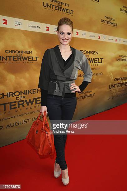Isabella Vinet arrives for the 'The Mortal Instruments City of Bones' Germany premiere at Sony Centre on August 20 2013 in Berlin Germany