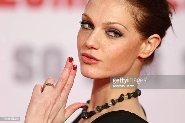 Isabella Vinet attends 'Die Hard Ein Guter Tag Zum Sterben' Germany Premiere at Cinestar Potsdamer Platz on February 4 2013 in Berlin Germany