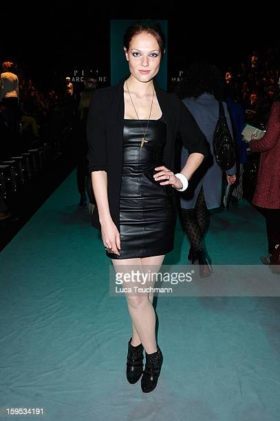 Isabella Vinet attends Marc Stone Autumn/Winter 2013/14 fashion show during MercedesBenz Fashion Week Berlin at Brandenburg Gate on January 15 2013...