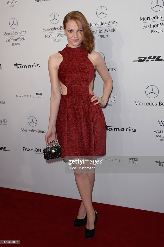 Isabella Vinet attends the Dimitri show during the Mercedes-Benz Fashion Week Spring/Summer 2014 at Brandenburg Gate on July 3, 2013 in Berlin, Germany.
