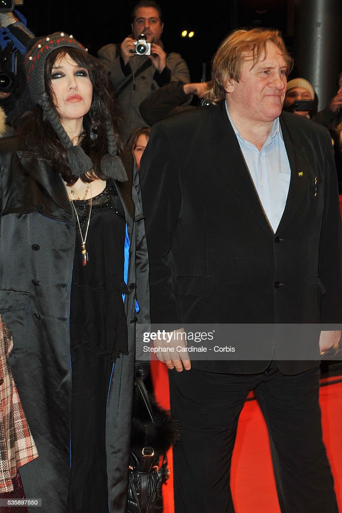 Isabelle Adjani and Gerard Depardieu attend the 'Mammuth' Premiere during the 60th Berlin International Film Festival.