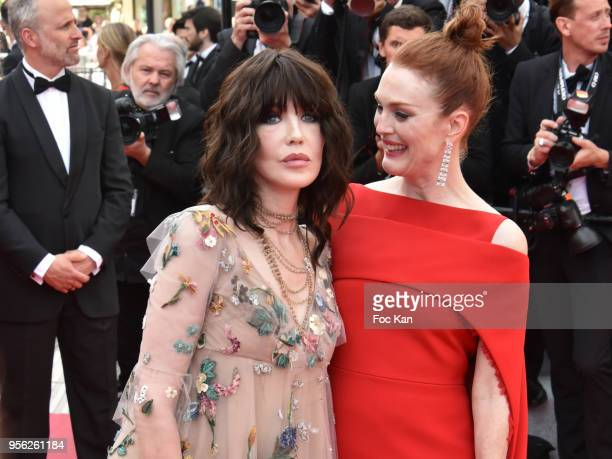 Isabelle Adjani and Julianne Moore attend the screening of 'Everybody Knows ' and the opening gala during the 71st annual Cannes Film Festival at...